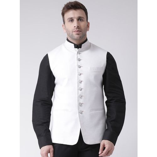 Hangup Sleeveless Self Design Men Jacket