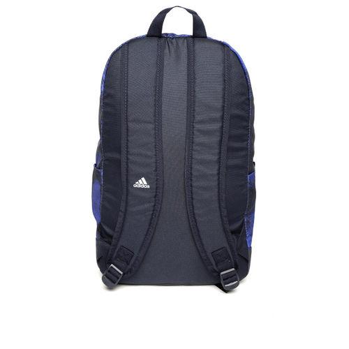 ADIDAS Unisex Blue & Black Classic Pocket Graphic Backpack