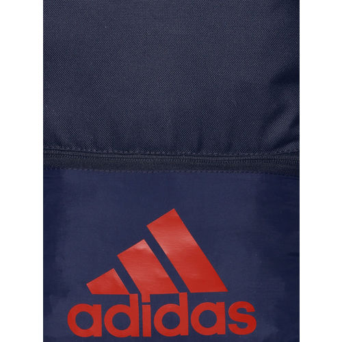 ADIDAS Unisex Navy Blue Clas BOS Brand Logo Backpack