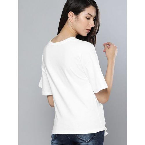NUSH White Printed T-Shirt