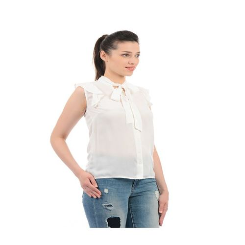 Pepe Jeans Off White Regular Fit Top