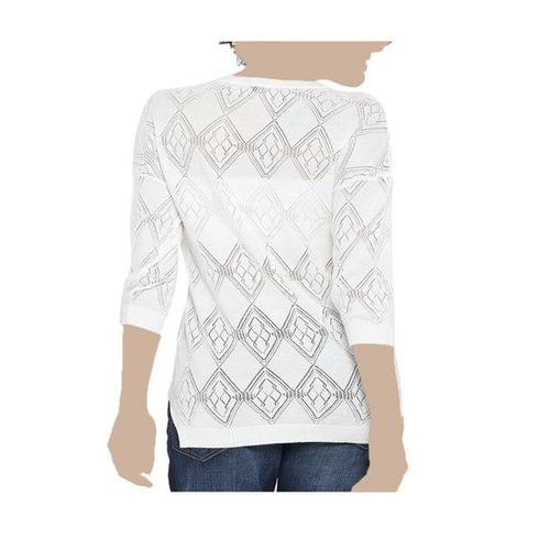 United Colors of Benetton White Crochet Top