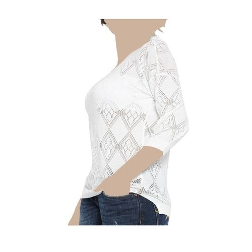 United Colors of Benetton White Crochet Top