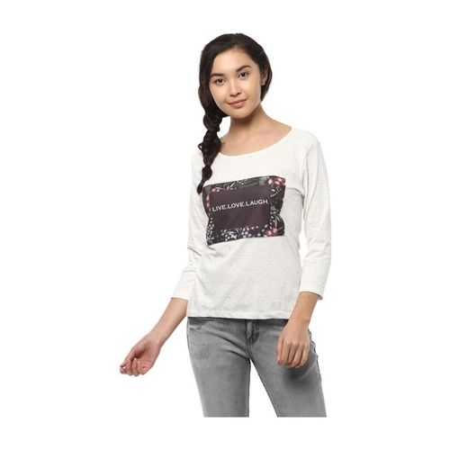 People Off White Printed Top