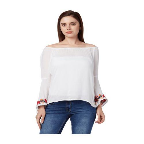 Park Avenue White Regular Fit Top