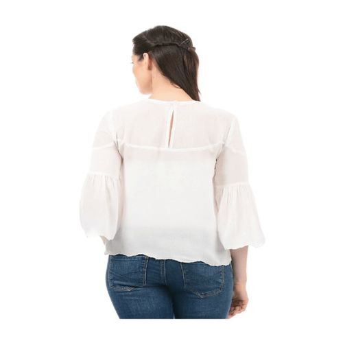 Pepe Jeans White Lace Top