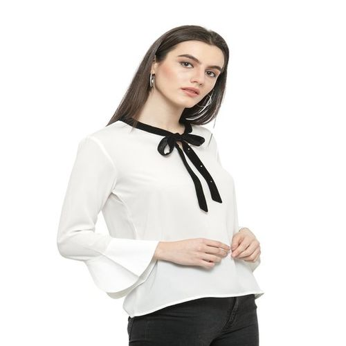 Plus S PlusS White Bell Sleeves Top