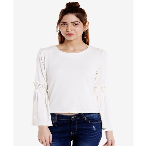 Globus White Full Sleeves Top