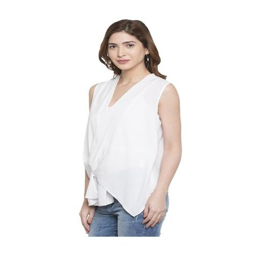 Globus White Regular Fit Polyester Top