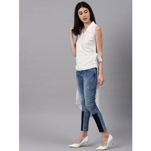 NUSH White Regular Fit Top