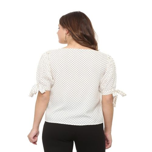 People Off-White Polka Dot Top