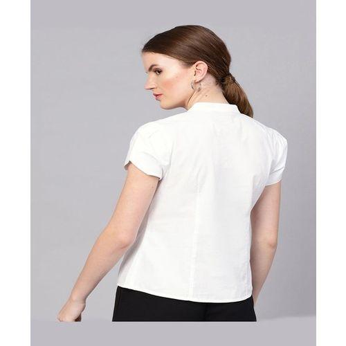 Street 9 White Short Sleeves Top