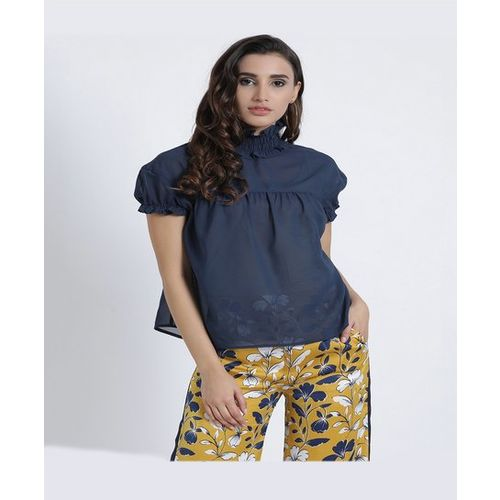 Kazo Navy Loose Fit Top