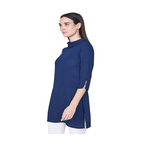 AND Navy Regular Fit Tunic