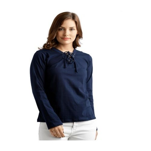 Miss Chase Navy Relaxed Fit Top