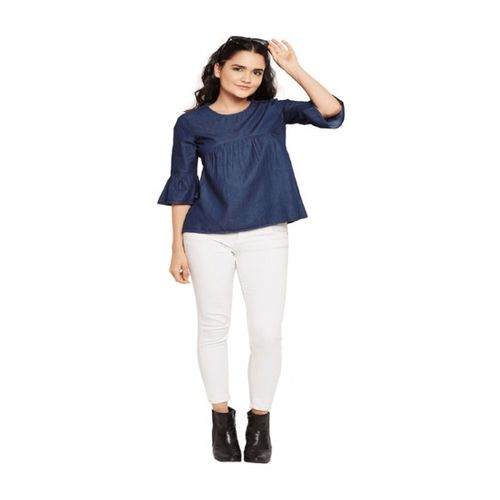 Oxolloxo Navy Regular Fit Top