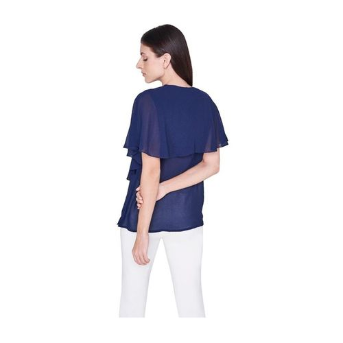 AND Navy Regular Fit Top
