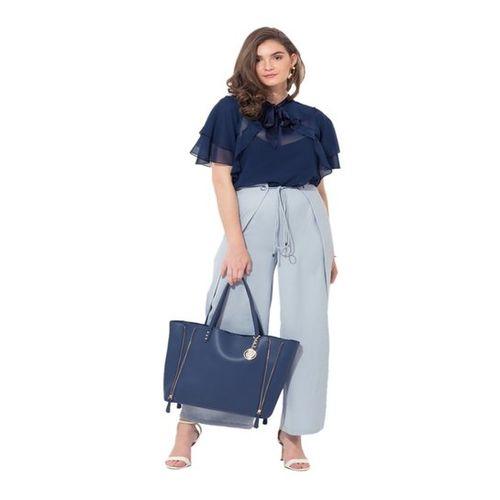 Kazo Navy Regular Fit Top