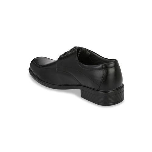 Azzaro Black Men Black Solid Formal Derbys