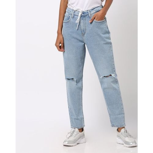 LEVIS Slim Fit Distressed Jeans with Drawstring Chord