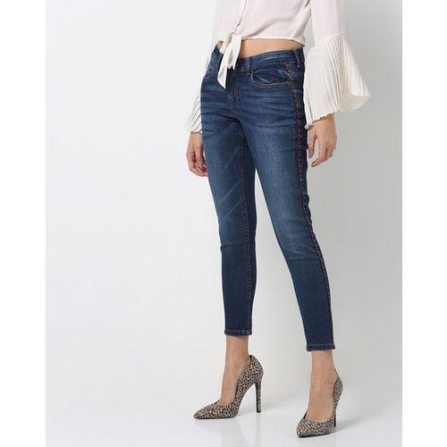DNMX Spider Monteradom Lightly Washed Skinny Jeans