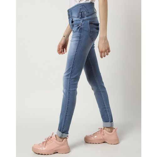 Devis High-Rise Washed Skinny Jeans