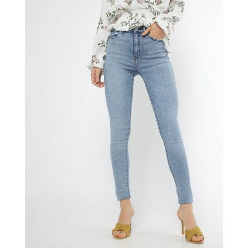 TALLY WEiJL Heavily Washed High-Rise Skinny Jeans