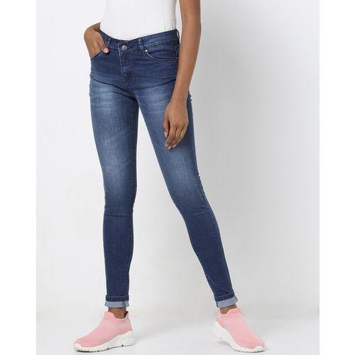 Devis Washed Denim Skinny Fit Jeans