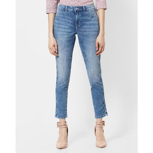 U.S. Polo Assn. Washed Mid-Rise Skinny Jeans