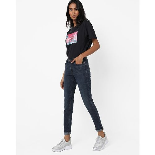 LEVIS Washed Mid-Rise Skinny Jeans