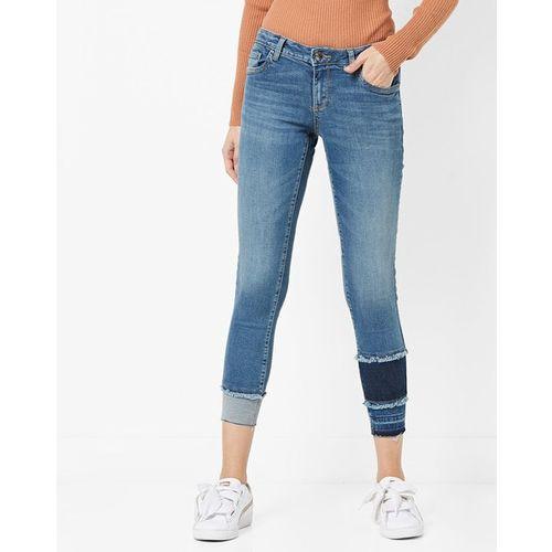 DNMX Panelled Ankle-Length Slim Fit Jeans