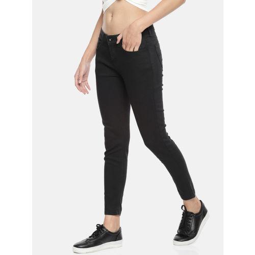 Jealous 21 Women Black Hottie Regular Mid-Rise Clean Look Stretchable Ankle LengthJeans
