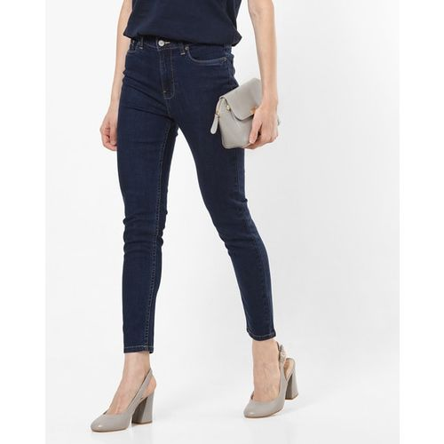 AERO JEANS WOMENS High-Rise Ankle-Length Skinny Fit Jeans