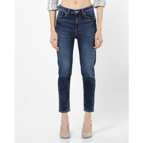 AERO JEANS WOMENS Light Acid Washed High-Rise Skinny Fit Jeans