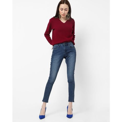 DNMX Washed High-Rise Skinny Fit Jeans