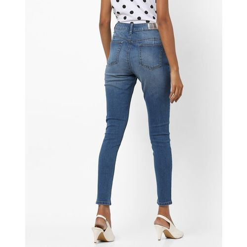 DNMX Washed High-Rise Skinny Jeans