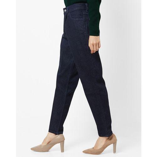 LEVIS High-Rise Pleat-Front Slim Fit Jeans