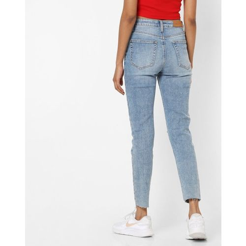TALLY WEiJL Mid-Wash Skinny Fit Distressed Jeans