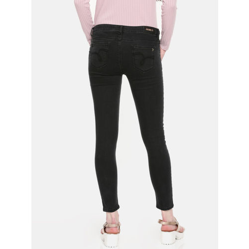 Jealous 21 Women Black Super Skinny Fit Mid-Rise Clean Look Stretchable Jeans