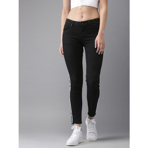 Moda Rapido Women Black Skinny Fit Mid-Rise Clean Look Stretchable Jeans