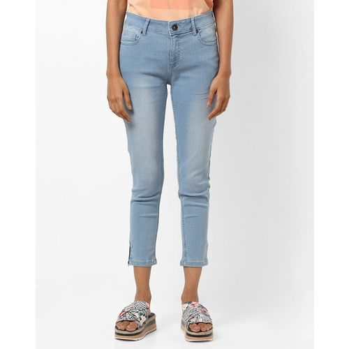 UNITED COLORS OF BENETTON Mid-Rise Skinny Cropped Jeans