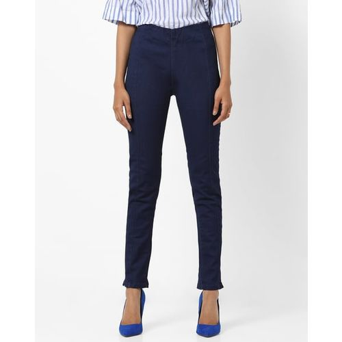 UNITED COLORS OF BENETTON High-Rise Skinny Jeggings with Elasticated Waistband