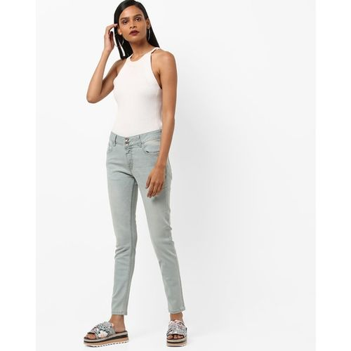 UNITED COLORS OF BENETTON Mid-Rise Lightly Washed Skinny Jeans