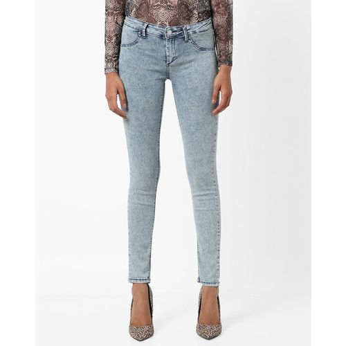 TALLY WEiJL Washed Mid-Rise Skinny Fit Jeans