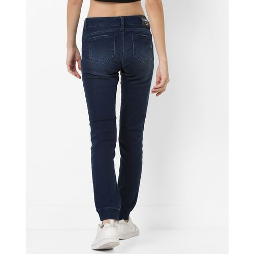 GAS Mid-Rise Light Washed Joggers