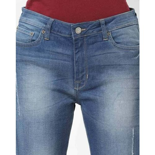 Aeropostale Mid-Rise Slim Fit Light Distress Washed Jeans