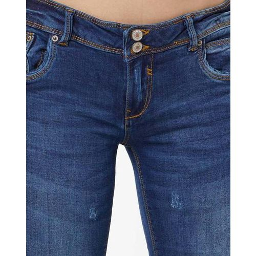 ALCOTT Mid-Wash Slim Fit Jeans with Distressing