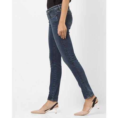 LEVIS Washed Mid-Rise Jeans
