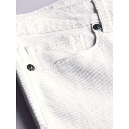 United Colors of Benetton Women White Skinny Fit Mid-Rise Clean Look Stretchable Jeans