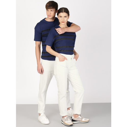 ether Unisex White Regular Fit Mid-Rise Clean Look Jeans